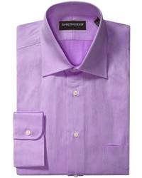 Camicia a maniche lunghe viola melanzana