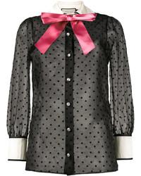 Camicia con stelle nera di Gucci