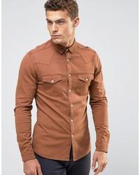 Camicia di jeans arancione