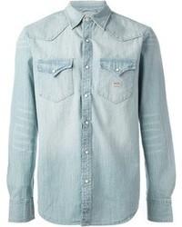 Camicia di jeans azzurra