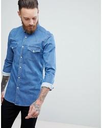 Camicia di jeans azzurra di ASOS DESIGN