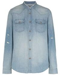 Camicia di jeans azzurra di Balmain
