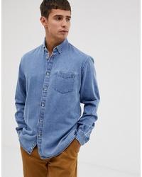 Camicia di jeans azzurra di Celio