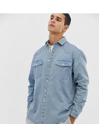 Camicia di jeans azzurra di Collusion