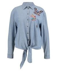 Camicia di jeans azzurra di Esprit