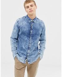 Camicia di jeans azzurra di Hollister