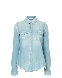 Camicia di jeans azzurra di Mother