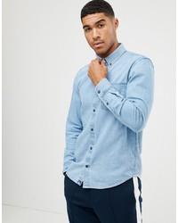Camicia di jeans azzurra di Pull&Bear