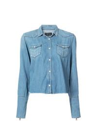 Camicia di jeans azzurra di RtA