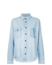 Camicia di jeans azzurra di Saint Laurent