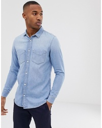 Camicia di jeans azzurra di Tiger of Sweden Jeans