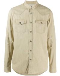 Camicia di jeans beige di Balmain