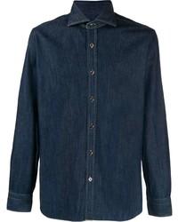 Camicia di jeans blu scuro di Barba