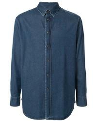 Camicia di jeans blu scuro di Brioni