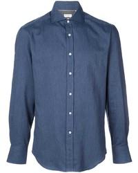 Camicia di jeans blu scuro di Brunello Cucinelli