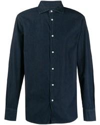 Camicia di jeans blu scuro di Deperlu