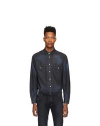 Camicia di jeans blu scuro di Diesel