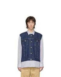 Camicia di jeans blu scuro di Junya Watanabe