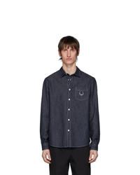 Camicia di jeans blu scuro di Kenzo