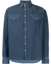 Camicia di jeans blu scuro di Rrd