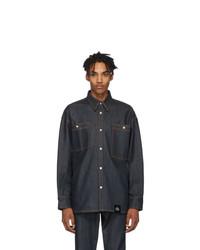 Camicia di jeans blu scuro di S.R. STUDIO. LA. CA.