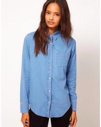 Camicia di jeans blu di Asos