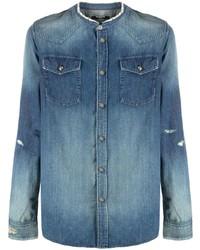 Camicia di jeans blu di Balmain