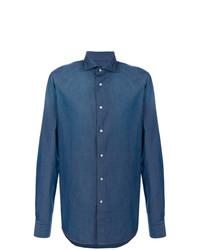 Camicia di jeans blu di Dell'oglio