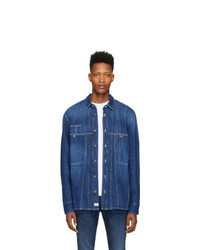Camicia di jeans blu di Diesel