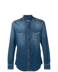 Camicia di jeans blu di Dolce & Gabbana