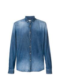 Camicia di jeans blu di Dondup