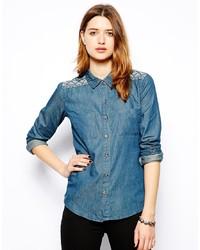 Camicia di jeans blu di Glamorous