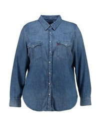 Camicia di jeans blu
