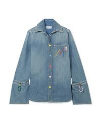 Camicia di jeans blu di Mira Mikati