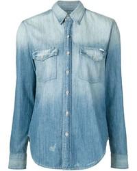 Camicia di jeans blu di Mother