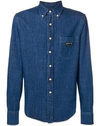 Camicia di jeans blu di Prada