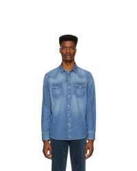 Camicia di jeans blu di Ralph Lauren Purple Label