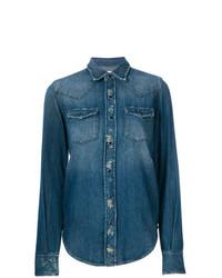 Camicia di jeans blu di Saint Laurent