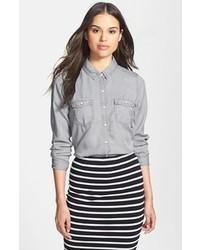 Camicia di jeans grigia