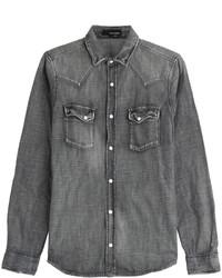 Camicia di jeans grigio scuro