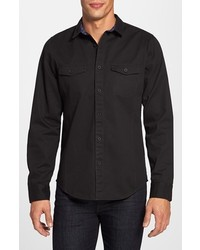 Camicia di jeans nera