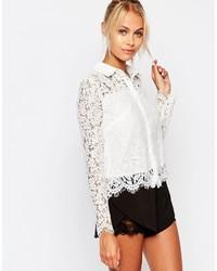 outlet store 7d482 83cb4 Camicie di pizzo a fiori bianche da donna | Moda donna ...