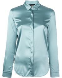 Donna Camicia Seta Azzurra Camicia Donna Seta Azzurra Camicia Azzurra DEHIW29