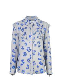 Camicia elegante a fiori grigia di Novis
