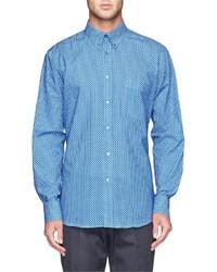 Camicia elegante a pois blu