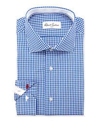 Camicia elegante a quadretti blu