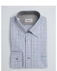 Camicia elegante a quadretti grigia