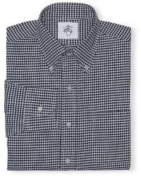 Camicia elegante a quadretti nera e bianca