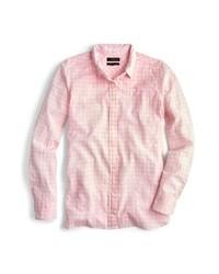 Camicia elegante a quadretti rosa