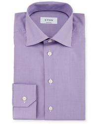 Camicia elegante a quadretti viola chiaro